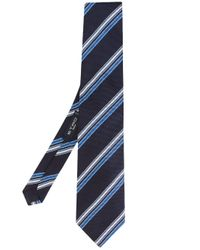 Etro - Blue Striped Tie for Men - Lyst