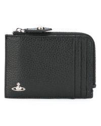 Vivienne Westwood | Black - 'milano' Zip Credit Card Holder - Men - Leather - One Size for Men | Lyst