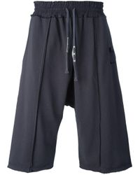 Damir Doma - Gray Drop-crotch Sweatshorts for Men - Lyst