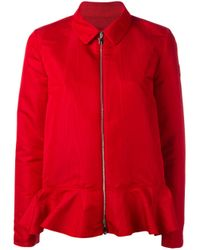 Moncler Gamme Rouge | Red - Zipped Jacket - Women - Silk/polyester - 1 | Lyst
