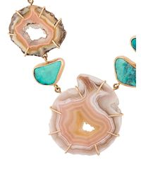 Melissa Joy Manning - Multicolor 14kt Yellow Gold Laguna Agate & Turquoise Necklace - Lyst