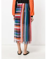Reality Studio - Multicolor Rainbow Midi Skirt - Lyst