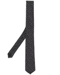 Saint Laurent - Black Star Jacquard Tie for Men - Lyst