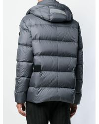 Peuterey - Gray Hooded Padded Jacket for Men - Lyst