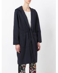 Hache - Blue Single Breasted Coat - Lyst