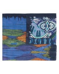 Etro | Blue Floral Print Scarf for Men | Lyst