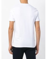 Fred Perry - White Embroidered Logo Pocket T-shirt for Men - Lyst