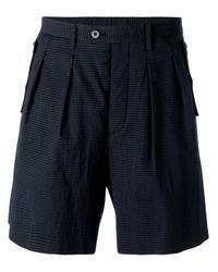 Wooyoungmi - Blue Bermuda Shorts for Men - Lyst