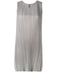 Pleats Please Issey Miyake | Gray Pleated Shift Dress | Lyst