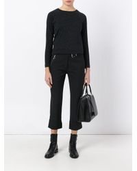 A.P.C. - Black Long Sleeve Sweater - Lyst