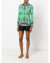 Etro - Green Printed Blouse - Lyst