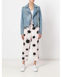 DIESEL - Pink Bow Detail Pjama Trousers - Lyst
