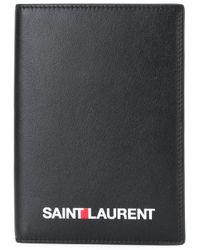 Saint Laurent - Black Passport Case for Men - Lyst