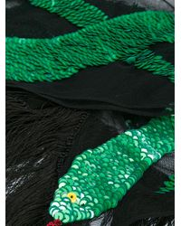 Rockins - Black Sequins Snake Scarf - Lyst