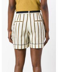 Roberto Collina - Multicolor Striped Tailored Shorts - Lyst