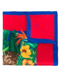 Kiton - Multicolor Jungle Print Pocket Square for Men - Lyst