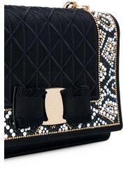 Ferragamo | Black Mosaic Vara Flap Bag | Lyst