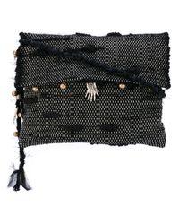 Ancient Greek Sandals | Black Woven Charm Crossbody Bag | Lyst