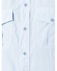 Aspesi | Blue Two Pocket Shirt for Men | Lyst