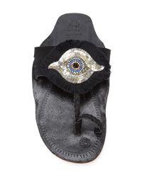 Figue - Black Evil Eye Sandals - Lyst
