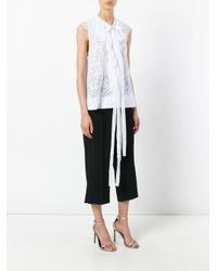 N°21 - White Pleated Collar Blouse - Lyst