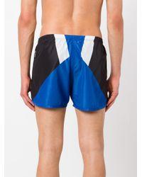 Neil Barrett - Blue Colour Block Swim Shorts for Men - Lyst