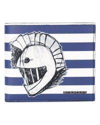 Burberry - Blue Striped Wallet for Men - Lyst
