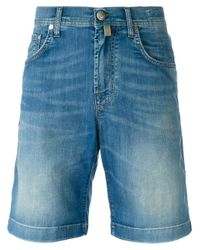 Jacob Cohen | Blue Denim Shorts for Men | Lyst
