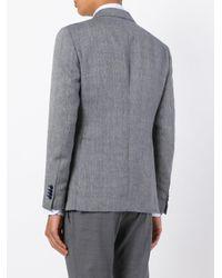 Tagliatore - Blue Flap Pockets Blazer for Men - Lyst