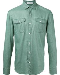 Cerruti 1881 | Green Longsleeve Shirt for Men | Lyst