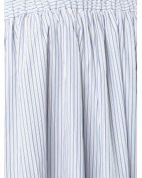 Martin Grant - Blue Pinstriped Flared Dress - Lyst
