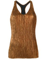 Haider Ackermann | Multicolor Lurex Pleated Tank Top | Lyst