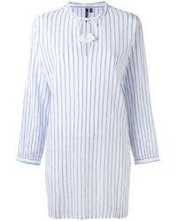 Woolrich - White Striped Shirt Dress - Lyst