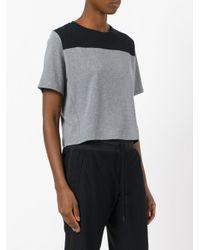 Sàpopa - Black Panelled T-shirt - Lyst