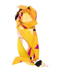 Emilio Pucci - Yellow Scarf Sandals - Lyst