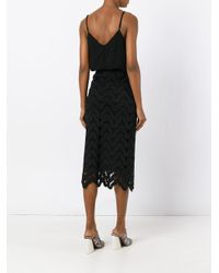 Essentiel Antwerp - Black Lace Dress - Lyst