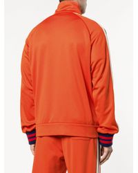 Gucci - Orange Technical Gg Web Jacket for Men - Lyst