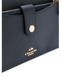 COACH - Blue Strap Shoulder Bag - Lyst