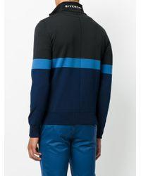 Givenchy - Black Striped Half-zip Sweatshirt for Men - Lyst