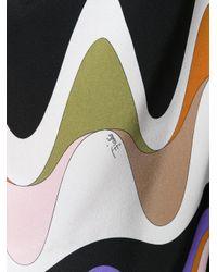 Emilio Pucci - Multicolor Blusa Con Stampa A Onde - Lyst