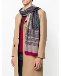 Etro - Multicolor Printed Pattern Scarf for Men - Lyst
