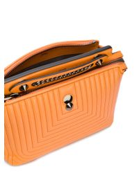 Fendi - Orange Dotcom Click Quilted Shoulder Bag - Lyst