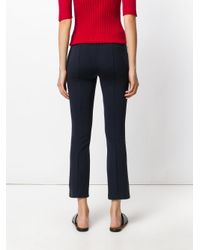 The Row | Blue Lana Wooltwill Straight Leg Pants | Lyst