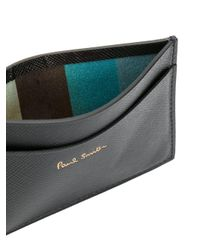 Paul Smith - Black 'saffiano' Cardholder for Men - Lyst