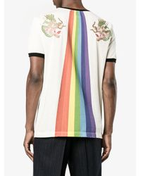 Gucci - Multicolor Ufo Rainbow Print T-shrit for Men - Lyst