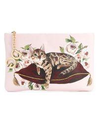 Dolce & Gabbana - Multicolor Cat Print Clutch - Lyst