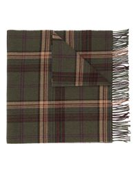 Polo Ralph Lauren - Green Checked Fringed Scarf for Men - Lyst