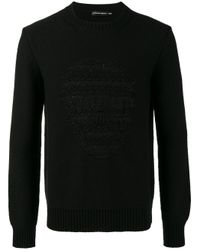 Alexander McQueen - Black Skull Jacquard Jumper for Men - Lyst