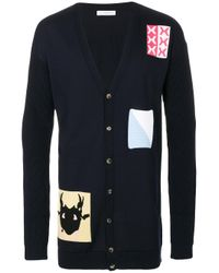 J.W. Anderson | Blue Multi Patched Cardigan for Men | Lyst