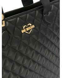 Love Moschino - Black Large Tote Bag - Lyst